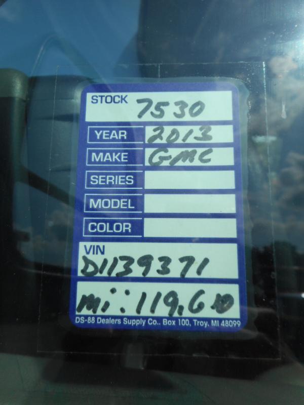 2013 GMC SAVANA G3500 2