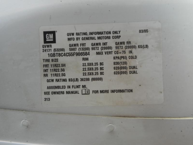 2005 Chevrolet KODIAK C8500 9