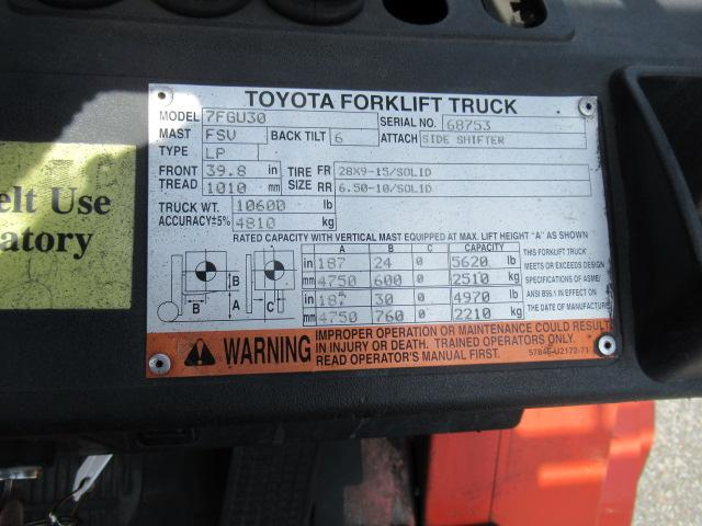 2006 Toyota 7FGU30 5