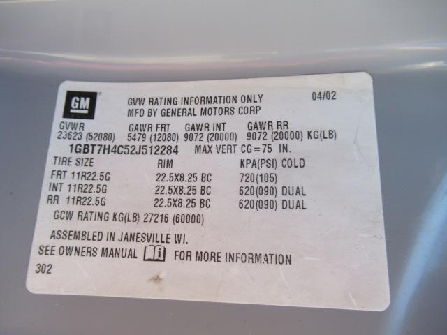 2002 Chevrolet KODIAK C8500 12