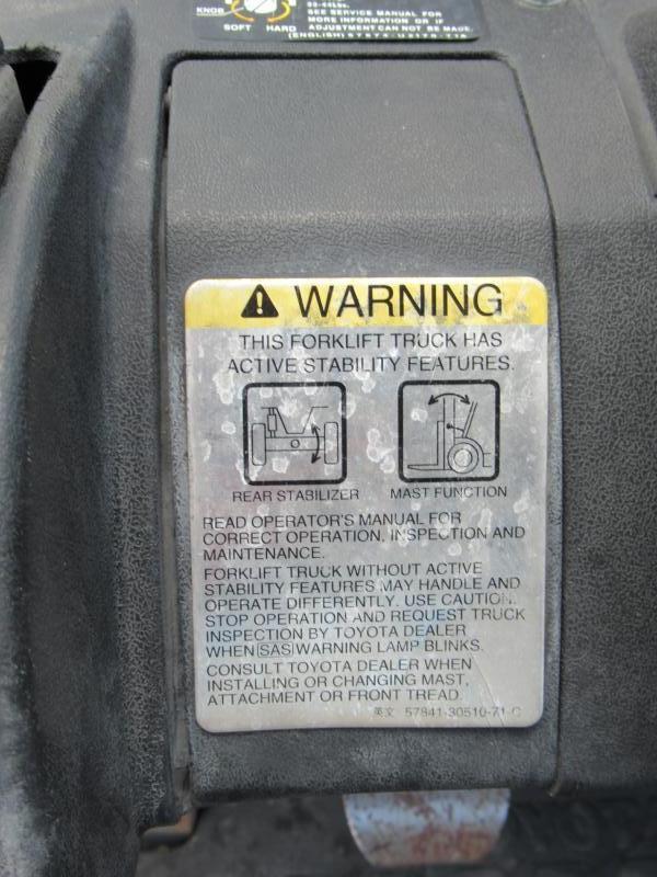2005 Toyota 7FGU30 13