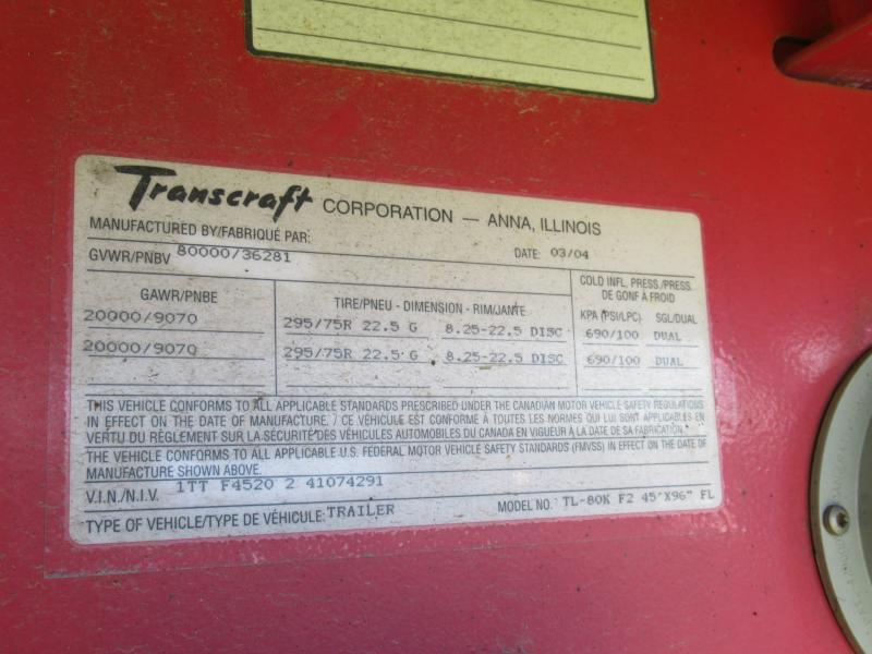 2004 TRANSCRAFT TL-80K 16