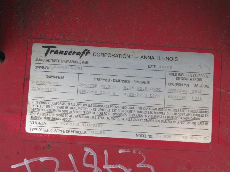 2004 TRANSCRAFT TL-80K 11