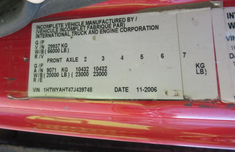 2007 International 7600 11