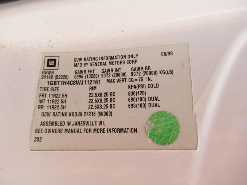1999 Chevrolet KODIAK C8500 16