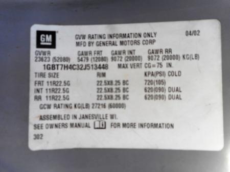 2002 Chevrolet KODIAK C7500 9