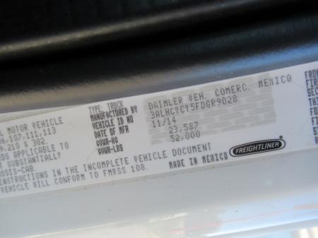 2015 Freightliner BUSINESS CLASS M2 106 16