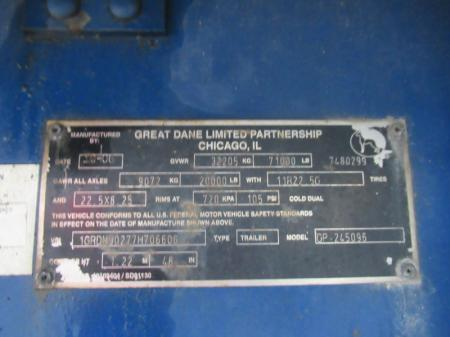 2007 Great Dane GP-245096 5