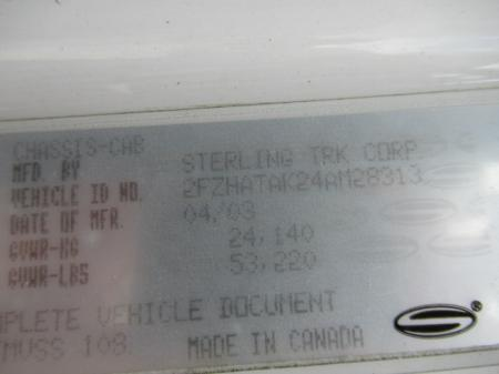 2004 Sterling LT7501 8