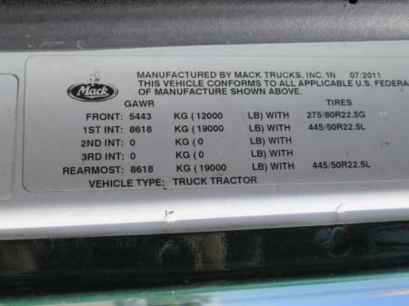 2012 Mack CXU613 13