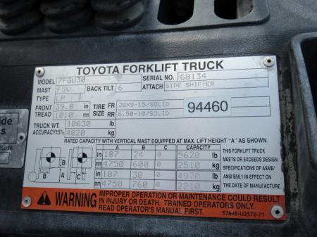 2005 Toyota 7FGU30 12