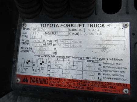 2010 Toyota 8FGU30 10
