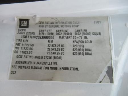 2002 Chevrolet KODIAK C8500 9