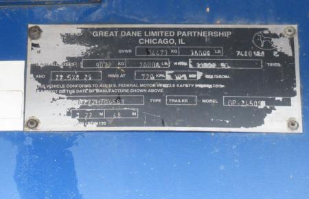 2007 Great Dane GP245 7